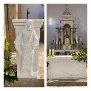 Postavljen novi oltar i ambon